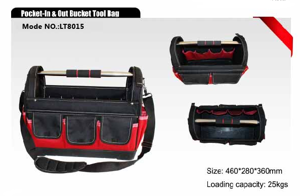 Pocket-In & Out Bucket Tool Bag